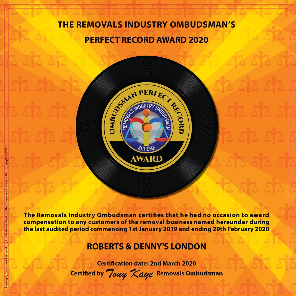Removal Company Awards