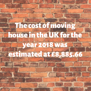 The cost of moving house in the UK for the year 2018 was estimated at £8,885.66